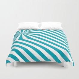 Stripes explosion - Blue Duvet Cover