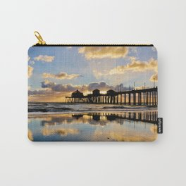 HB Sunsets   11/25/15  ~  Sunset at the Huntington Beach Pier Carry-All Pouch