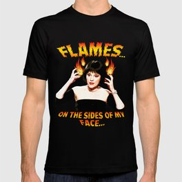 Clue Madeline Kahn Mrs White Flames on the Sides of my Face T-shirt