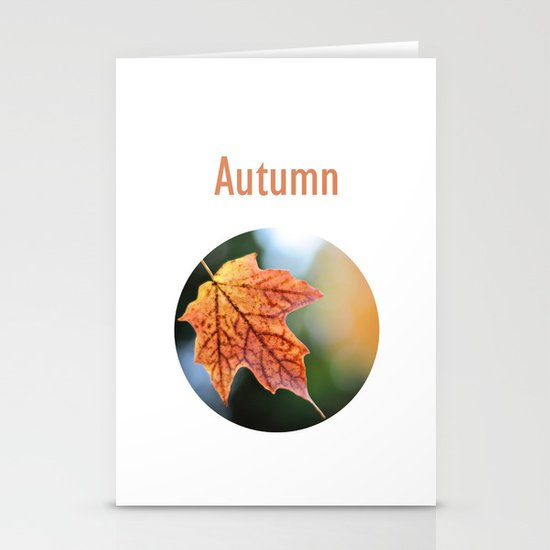 Autumn, the year's last, loveliest smile. Stationery Cards