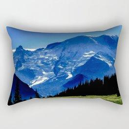 Mount Rainier in the Distance Rectangular Pillow