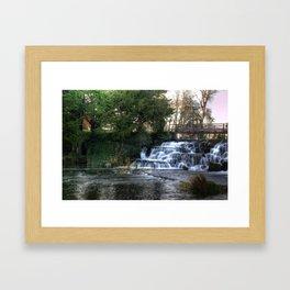 Waterfall @ Rye Water Lake Framed Art Print