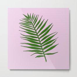 Palm (pink) Metal Print