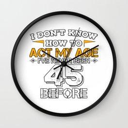 Funny Birthday Gift 60 Years Sixty Born in 1973 Wall Clock