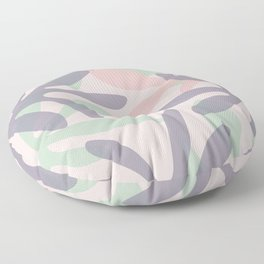 Seychelles Garden Abstract Botanical Pattern in Lavender, Light Sage Green, and Pink Floor Pillow