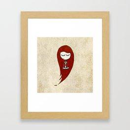 Enjoying the silence (red) Framed Art Print