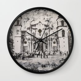 Havana Cathedral Wall Clock