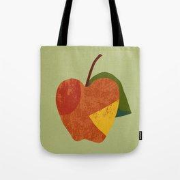 Textured plain apple Tote Bag