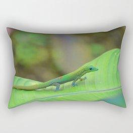 Gecko on a Leaf Rectangular Pillow