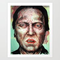 christopher walken Art Prints featuring Christopher Walken by Chuck Hodi