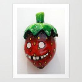 Youthful Strawberry Art Print