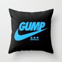 forrest gump Throw Pillows featuring Gump- JustDoIt IV by IIIIHiveIIII