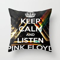 floyd Throw Pillows featuring Pink Floyd by Iotara