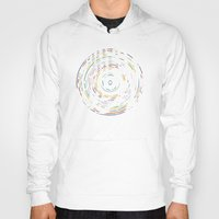 record Hoodies featuring Rainbow Record by Project M