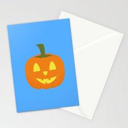 Classic light Halloween Pumpkin Stationery Cards