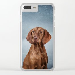 Drawing funny Vizsla Pointer Clear iPhone Case