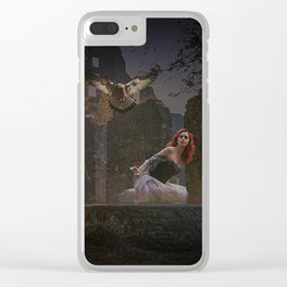 The girl an the hawk Clear iPhone Case