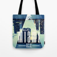 miami Tote Bags featuring MIAMI by Kami