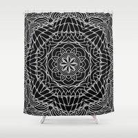 ethnic Shower Curtains featuring Ethnic ornament by Julia Badeeva