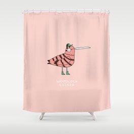 Woodcock sucker Shower Curtain