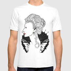 Elizabeth I. SMALL Mens Fitted Tee White