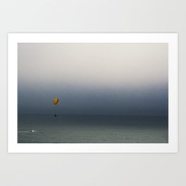 Flying Over the Pacific Art Print