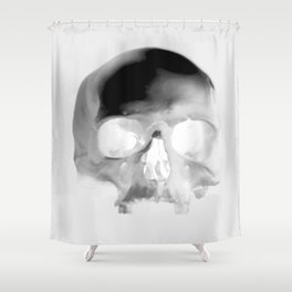 Black Skull Shower Curtain