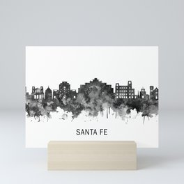Santa Fe New Mexico Skyline BW Mini Art Print