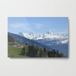 Eiger Bernese Oberland Switzerland Metal Print