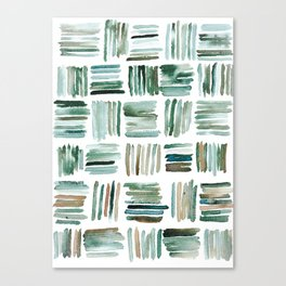 Muted Matchsticks Abstract Watercolor Painting Canvas Print