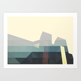 SHAPES ON BUILDINGS Art Print