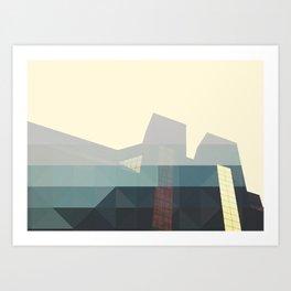 SHAPES ON BUILDINGS Art Print