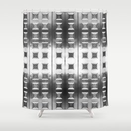 Courting Metal Shower Curtain