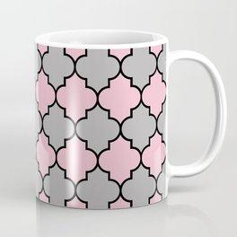 Moroccan Trellis, Latticework - Gray Pink Black Coffee Mug