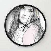 boho Wall Clocks featuring Boho by Lyndsey Ferguson