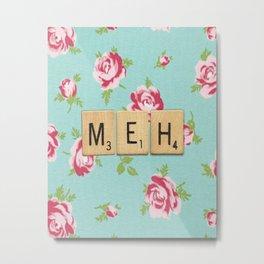 Floral Meh Scrabble Tiles Metal Print