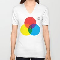 dark side V-neck T-shirts featuring Dark Side by I Love Doodle