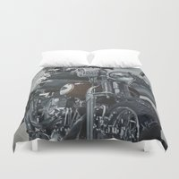 hook Duvet Covers featuring Hook Up by Andy Depp