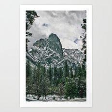 Yosemite a Snowy El Capitan Art Print