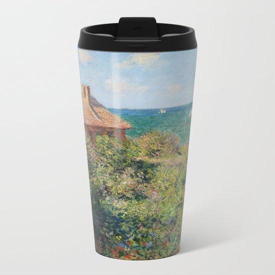 Fisherman's Cottage at Varengeville by Claude Monet Metal Travel Mug