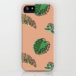 Modern Botanical Pattern iPhone Case