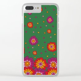 Retro Blooming Clear iPhone Case