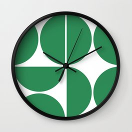 Mid Century Modern Green Square Wall Clock