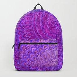 Mandala Flower in Violet Tones Backpack