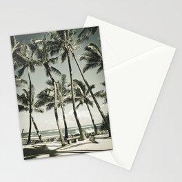 Kuau Beach Palms Maui Hawaii Stationery Cards