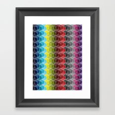 Hexagon Shades / Pattern #6 Framed Art Print