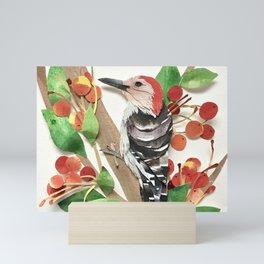 Cranapple Woodpecker Mini Art Print