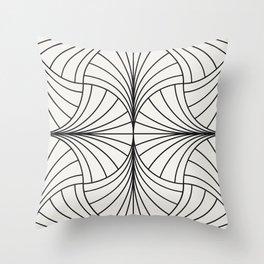 Diamond Series Inter Wave Charcoal on White Throw Pillow