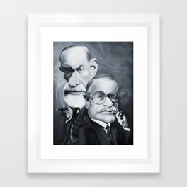 Sigmund Freud and Carl Jung Framed Art Print