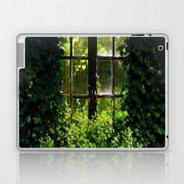 Green idyllic overgrown cottage garden window Laptop & iPad Skin